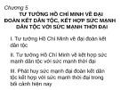 Bài giảng Tư tưởng Hồ Chí Minh: Chương 5 - GV. Lê Thị Ái Nhân