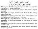 Bài giảng Tư tưởng Hồ Chí Minh: Chương mở đầu - GV. Hải Ngọc (ĐH Kinh tế TP.HCM)