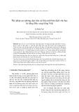 Thủ pháp sao phỏng dựa trên cứ liệu một bản dịch văn học từ tiếng Đức sang tiếng Việt