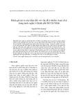 Đánh giá rủi ro sức khỏe đối với vấn đề ô nhiễm Asen (As) trong nước ngầm ở thành phố Hồ Chí Minh