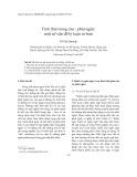 Tình thái trong câu - phát ngôn: một số vấn đề lý luận cơ bản