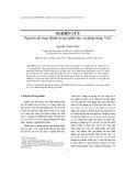 Nguyên tắc hợp thành trong nghĩa học cú pháp tiếng Việt