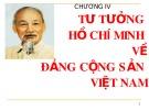 Bài giảng Tư tưởng Hồ Chí Minh: Chương 4 - GV. Hải Ngọc (ĐH Kinh tế TP.HCM)
