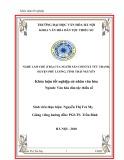 Tóm tắt Khóa luận tốt nghiệp:  Nghề làm chè (trà) của người Sán Chí ở xã Tức Tranh, huyện Phú Lương, tỉnh Thái Nguyên