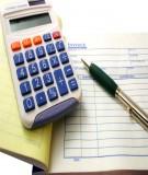 Đề cương chi tiết môn Kế toán tài chính