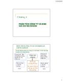Bài giảng Đầu tư tài chính - Chương 6: Phân tích công ty và định giá chứng khoán