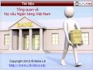Bài giảng Tổng quan về nợ xấu ngân hàng Việt Nam - ĐH Kinh tế TP.HCM