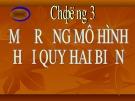Bài giảng Kinh tế lượng: Chương 3 - Lê Thị Hồng Hoa