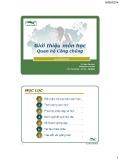 Bài giảng Quan hệ công chúng: Giới thiệu môn học - ThS. Đinh Tiên Minh