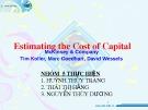 Bài thuyết trình: Estimating the Cost of Capital