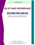 Cẩm nang cho mùa thi: Các kỹ thuật phổ biến nhất giải phương trình lượng giác - Nguyễn Hữu Biển
