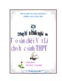 Sáng kiến kinh nghiệm: Tạo sân chơi Vật lý cho học sinh trung học phổ thông - Chung Thị Sen