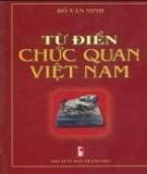 Chức quan Việt Nam và từ điển: Phần 1