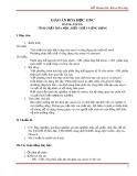 Giáo án Hóa học 11 Nâng cao Bài 54: Ancol - Tính chất hóa học, điều chế và ứng dụng