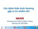 Bài giảng Các bệnh thần kinh thường gặp ở trẻ nhiễm HIV