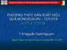 Bài giảng Phương thức sản xuất hiệu quả Monozukuri – Toyota - TS. Nguyễn Danh Nguyên