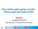 Bài giảng Phơi nhiễm nghề nghiệp với HIV: Phòng ngừa phổ quát và PEP