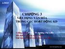Bài giảng môn Văn hóa kinh doanh: Chương 3 - PGS.TS. Dương Thị Liễu