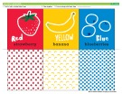Ebook Learning colors fruit flash cards