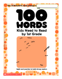 Ebook 100 Words kids need to read by 1st grade - Book 1