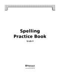 Ebook Spelling practice book Grade 4