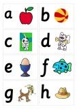 Alphabet cards back to back