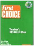 first choise teacher's resource book