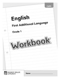 English first addtional language (Grade 1) - Workbook