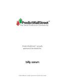 Ebook Predict wall street