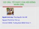 Bài giảng Cơ cấu, tổ chức của Hội đồng nhân dân - Nguyễn Văn Mễ