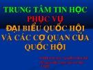 Bài giảng Trung tâm Tin học phục vụ đại biểu Quốc hội và các cơ quan của Quốc hội - Nguyễn Trọng Kỳ