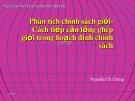 Bài giảng Phân tích chính sách giới - Cách tiếp cận lồng ghép giới trong hoạch định chính sách - Nguyễn Chí Dũng