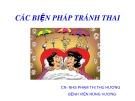 Bài giảng Các biện pháp tránh thai - Phạm Thị Thu Hương
