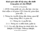 Bài giảng Khái quát một số kỹ năng cần thiết trong giám sát của ĐBQH - PGS.TS. Lê Thanh Bình