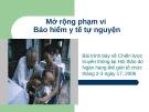 Bài giảng Mở rộng phạm vi bảo hiểm y tế tự nguyện