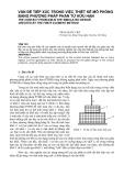 Vấn đề tiếp xúc trong việc thiết kế mô phỏng bằng phương pháp phần tử hữu hạn