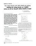 Xây dựng thuật toán điều khiển hệ thống chống bó cứng bánh xe (ABS) trên cơ sở lý thuyết điều khiển trượt