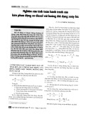 Nghiên cứu tính toán hành trình của kim phun động cơ diesel với buồng đốt dạng xoáy lốc