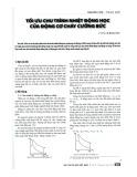 Tối ưu chu trình nhiệt động học của động cơ cháy cưỡng bức