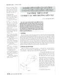 Nghiên cứu thiết lập mô hình toán-cơ của quá trình cắt gọt tạo phoi trên cơ sở cơ học các môi trường liên tục
