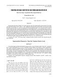 Phản ứng siêu nhạy cảm ở rễ cây đậu tương Nam Đàn đối với chì