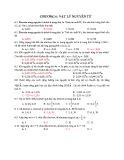 Bài tập trắc nghiệm Chương 6: Vật lý nguyên tử (Có đáp án)