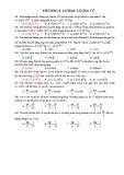 Bài tập trắc nghiệm Chương 5: Cơ học lượng tử (Có đáp án)
