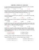 Bài tập trắc nghiệm Chương 3: Phân cực ánh sáng (Có đáp án)