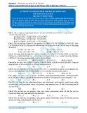 Lý thuyết và phương pháp giải bài tập amino axit (Bài tập tự luyện) - Vũ Khắc Ngọc