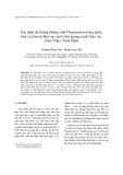 Xác định dư lượng kháng sinh Floquinolon trong nước, bùn và tôm tại khu vực nuôi tôm quảng canh Giao An, Giao Thủy, Nam Định