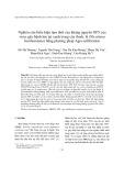 Nghiên cứu biểu hiện tạm thời của kháng nguyên GP5 của virus gây bệnh lợn tai xanh trong cây thuốc lá (Nicotiana benthamiana) bằng phương pháp Agro-infiltration
