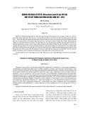 Nghiên cứu bệnh lở cổ rễ (Rhizoctonia solani Kühn) gây hại một số cây trồng cạn vùng Hà Nội, năm 2011–2012