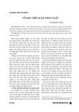 Về bản thể luận pháp luật