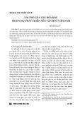 Vai trò của văn hóa đọc trong sự phát triển nền văn hóa Việt Nam